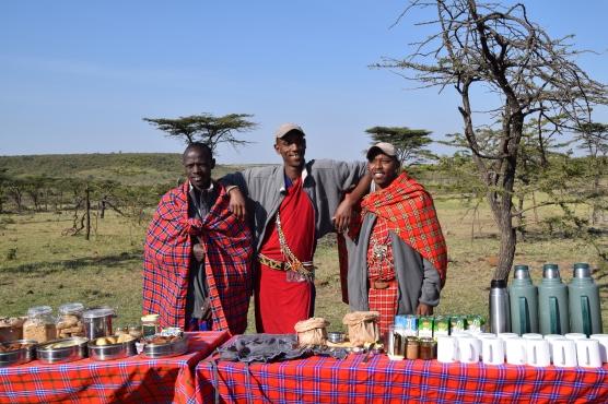 Wilson, Nbala, Dennis serve breakfast